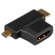 HDMI TYPE A FEMELLE VERS MINI HDMI TYPE C MALE ET MICRO HDMI TYPE A MALE - VEL-PAC935T