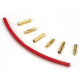 Gold Bullet Connector Set, 4mm (3) - DYNC0050