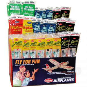 Balsa Planes 3-Tier 5-Assortment Combo Pack Display(120pcs) - GUI83-D