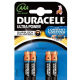 Pack de 4 piles Duracell Ultra Power LR3 Micro AAA - 15126