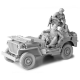 Kit WW II Willys Jeep 1/16e with Driver and Gunner - 2222000338